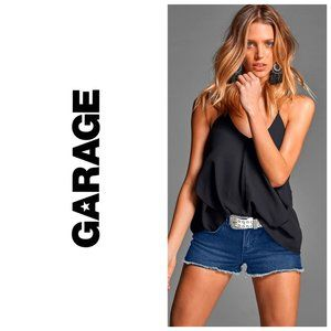 GARAGE Distressed Blue Denim Shorts